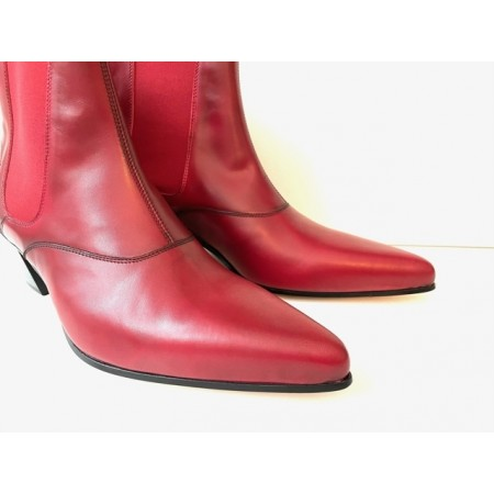 New Stock - Winkle Picker Boot - Blood Red