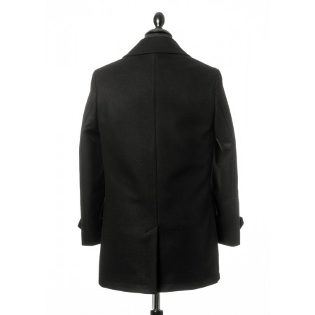 Sale : (Last One Size UK 40) The Paul Pea Coat - Black Italian Wool