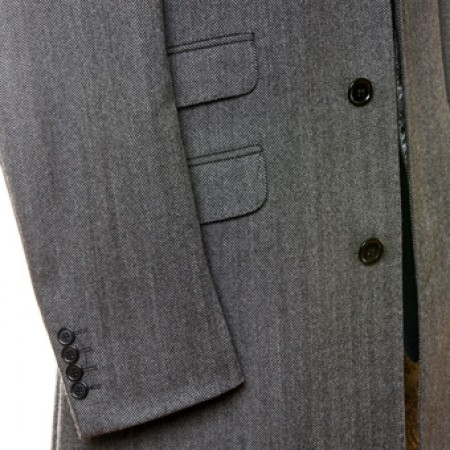 Sale: The Chesterfield Overcoat  - Charcoal Grey