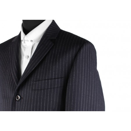 *Final Sale : The Lennon Mod Jacket - Navy Blue Pinstripe