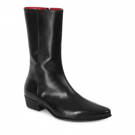 Low Lennon Boot - Black Calf Leather