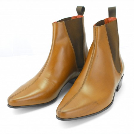 Sale : Low Cavern Boot - Vintage Tan Leather (old)-46 (UK 12 / US 12.5)