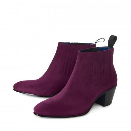 SALE : Ringo Boot - Plum Suede