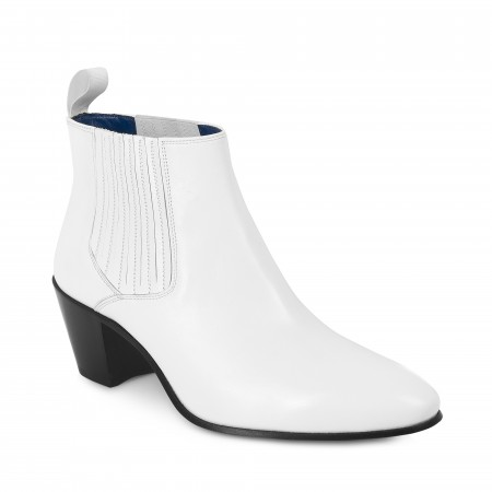 Reduced Sale Price : Ringo Boot - White Calf Leather