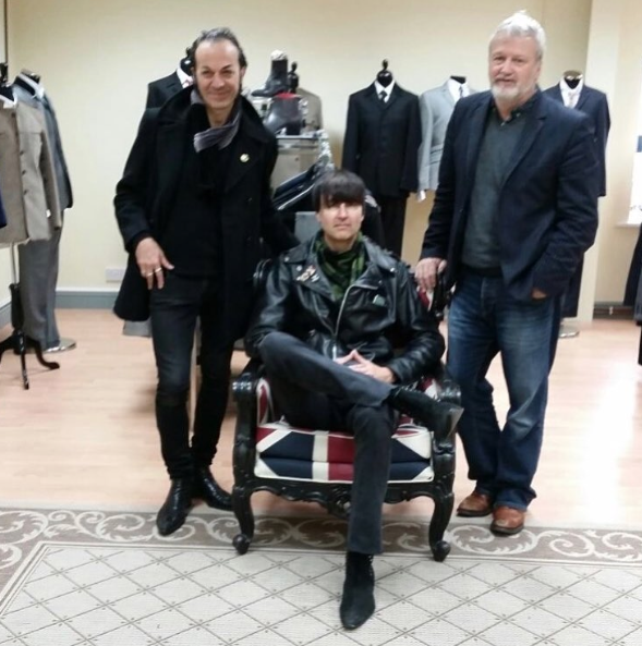 Mark with some Beatwear Customers at the Beatwear Showroom